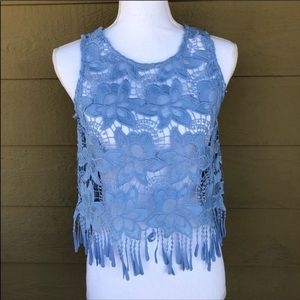 Forever 21 Crochet Lace Crop Top Size S